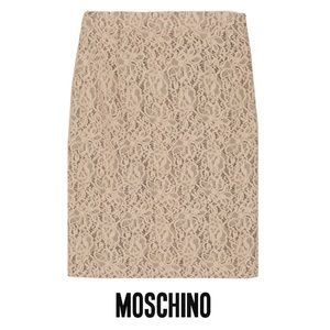 Moschino Lace Pencil Skirt